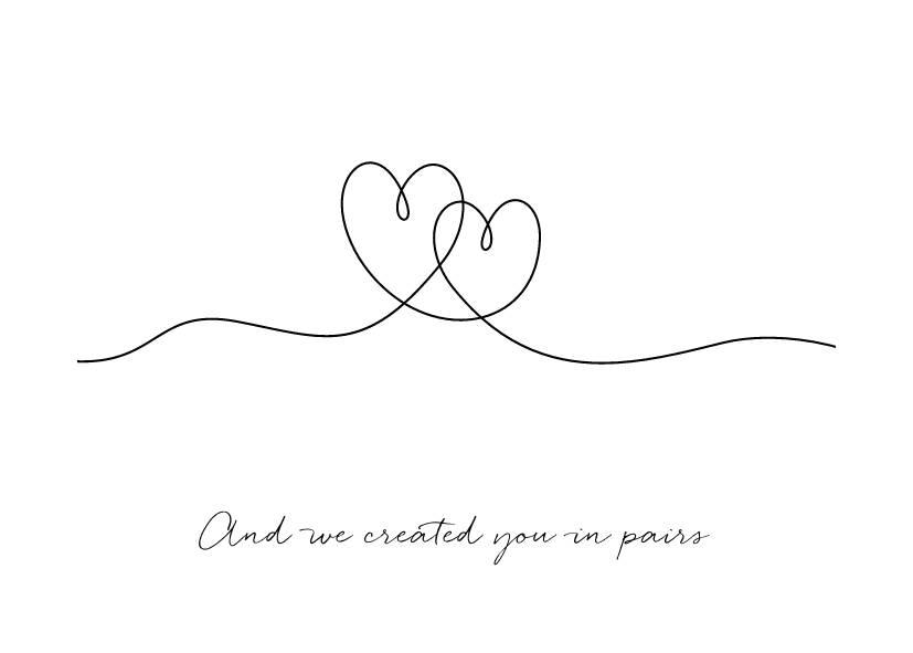Heart Line Art