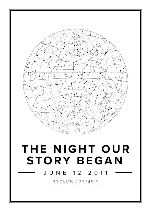 The Night Our Story Began Star Map